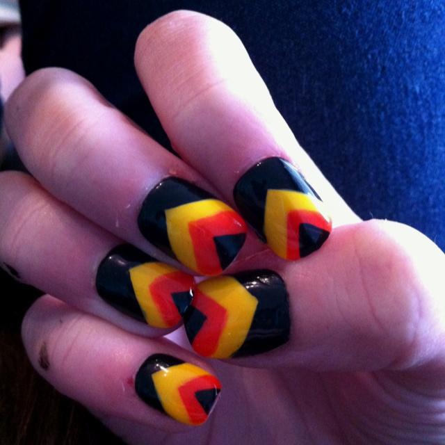 #canucks #nails #hockeyNails Hockey, Nails Art, Canucks Hockey, Canucks Nails, Hockey Nails