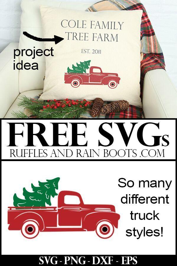 Download Free Christmas Truck SVG Files | Cricut christmas ideas ...