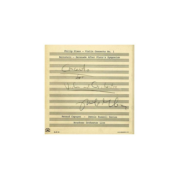 Glass & Bernstein & Renaud Capucon - Violin Concerto No.1 / Serenade (CD)