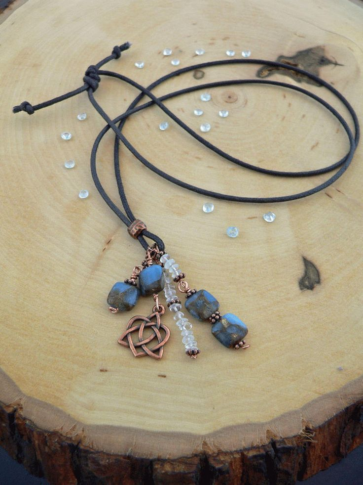 Reiki Healing Necklace, Golden Aqua Agate Necklace, Blue Topaz, Lanyard Necklace with Charm, Balance, Grounding, Self-Confidence, Self-Love by HeartLightCrystals on Etsy