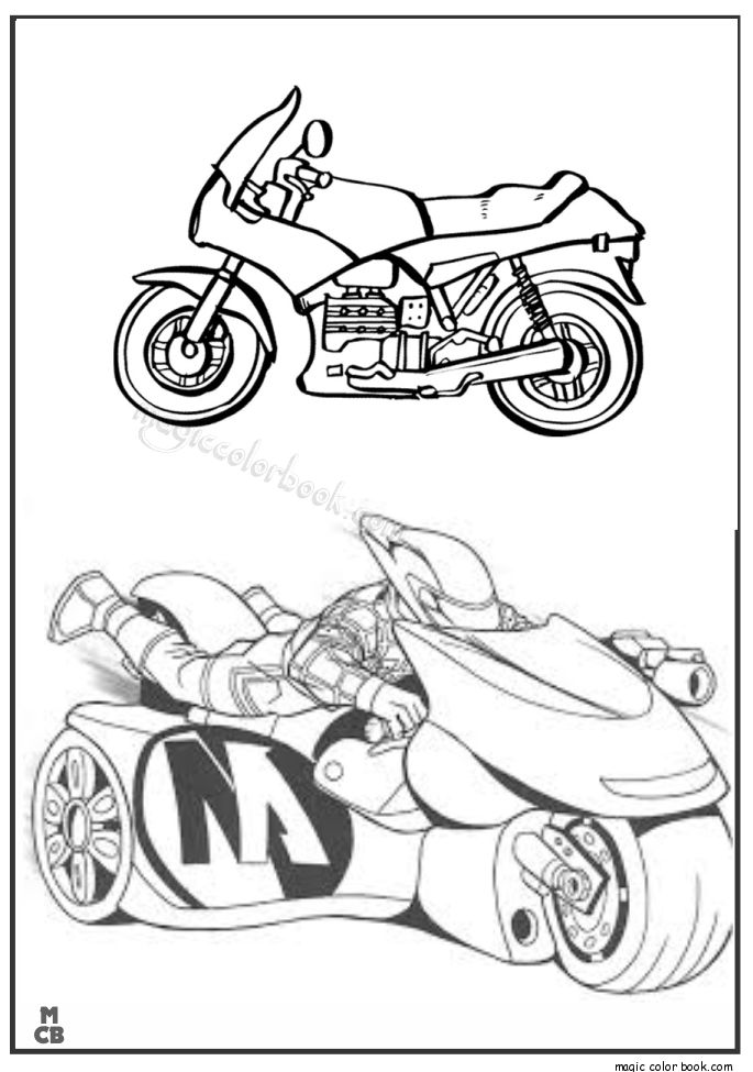 18 Best Motorcycle Coloring Pages Free Images On Pinterest