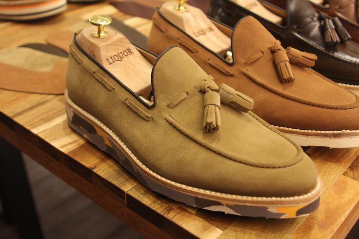 tassel loafers+camo vibram sole
