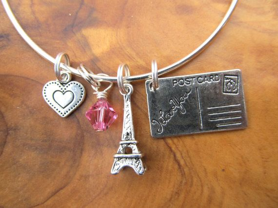 I LOVE PARIS  Alex and Ani inspired  by DestinyAccessory on Etsy