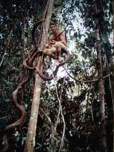 """Sumatra forest, Indonesia"" 1968, self-timer photo by Italian climber, explorer, photojournalist WALTER BONATTI (1930/2011)"