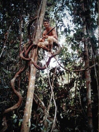 """Sumatra forest, Indonesia"" 1968, self-timer photo by Italian climber, explorer, photojournalist WALTER BONATTI (1930/2011)"