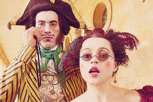 Sacha Baron Cohen and Helena Bonham Carter in Les Mis at Boughton House