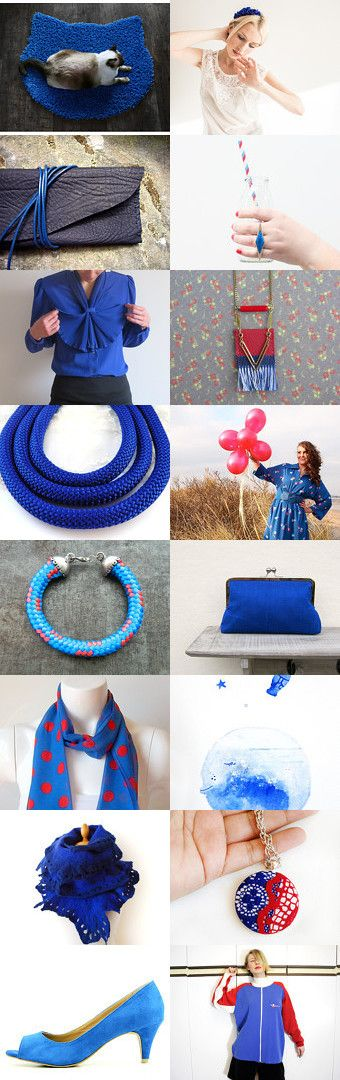 Something blue and red by Alexa Brains on Etsy--Pinned with TreasuryPin.com