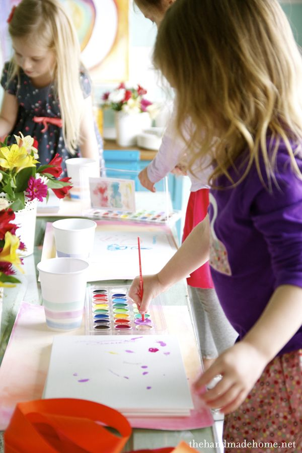 watercolor birthday ideas (tips and tricks) | the handmade home