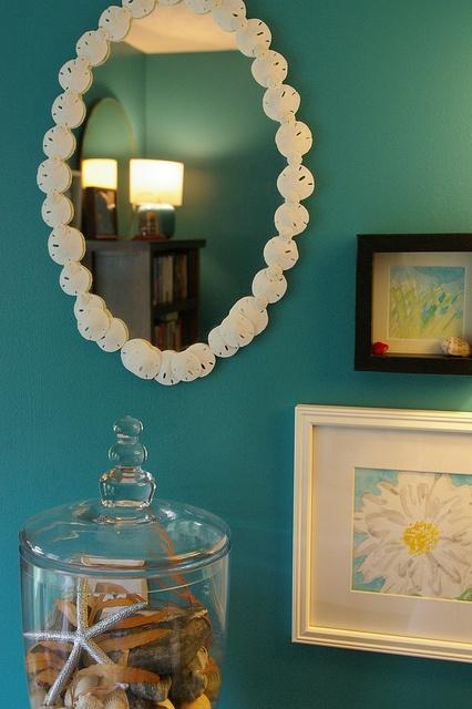 Good Sand Dollar Mirror By Jenfarina, Via Flickr Http://www.coastalliving.