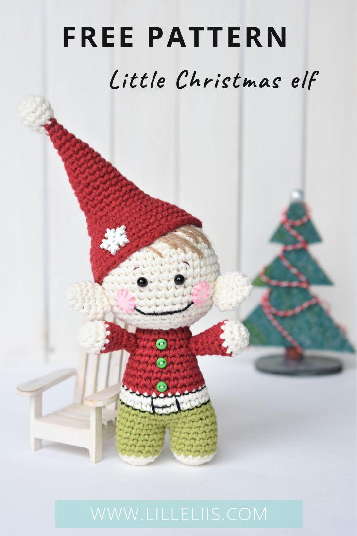 Free amigurumi pattern – Little Christmas elf