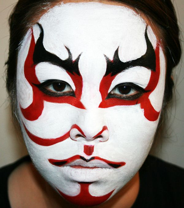 kabuki masks | This is the Japanese Kabuki Mask. Sorry if this is going to give ...