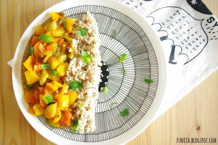 i love vegan food... served on Marimekko plate ;-)