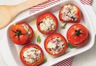 Receita light: tomate assado recheado com ricota   Receitas Light