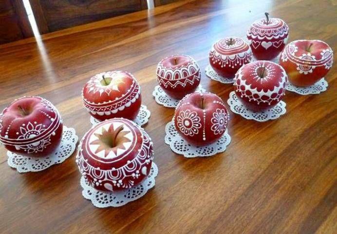 manzanas decoradas para san valentin