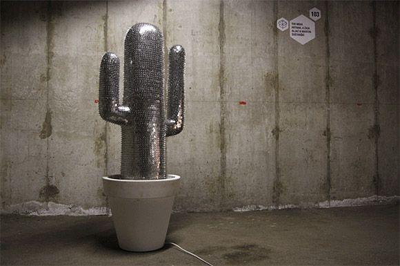 great idea !!! 1/ cactusSculpture, Thumbtack Cactus, Drawing Pin, Miha Artnak, 20 000 Drawing, 20000, The Offices, Design, Offices Supplies