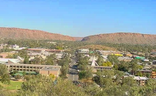 Alice Springs, Australia  View from Anzac Hill.  A town of 30,000 in Northern Territories... with no town or township for 1000 miles in every direction.