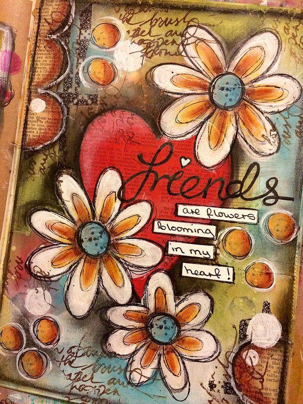 DLP week 4 words of friendship art journal page