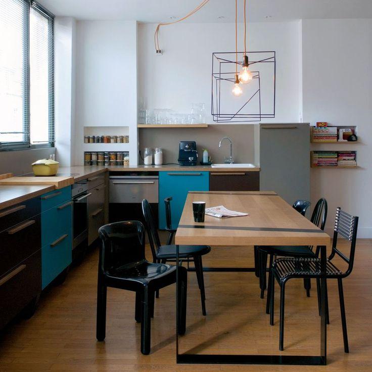 Eléments de cuisine : la cuisine ouverte en forme de L - Marie Claire Maison