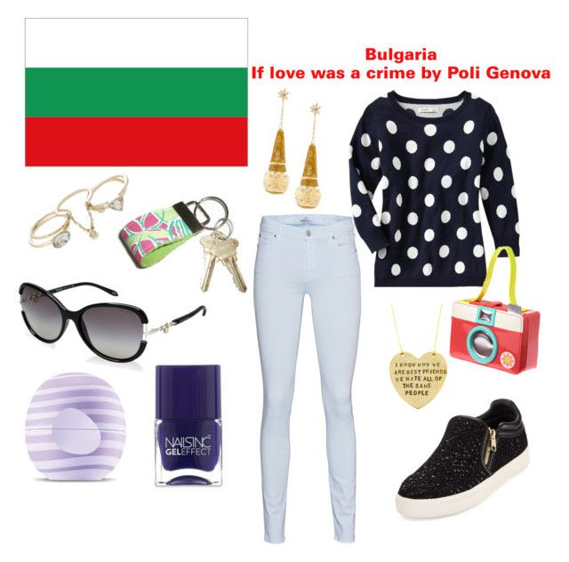 """Bulgaria Eurovision 2016"" by grace-buerklin ❤ liked on Polyvore featuring Hoover, 7 For All Mankind, Ash, Alisa Michelle, Lilly Pulitzer, Tiffany & Co., Lipsy, Eos, Nails Inc. and modern"