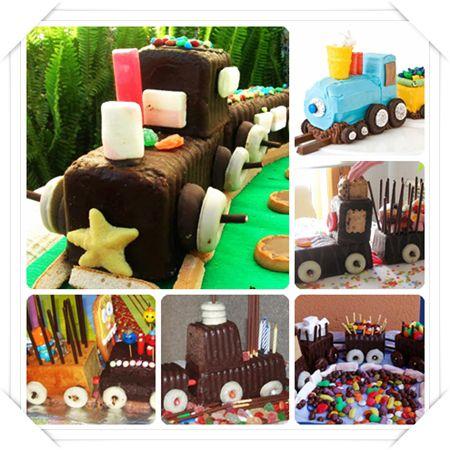 Tarta tren sin horno, una tarta muy fácil… M'encanta per futur aniversari de l'Ane ;)