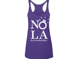 Personalized New Orleans Bachelorette Party Tank. Celebrate your New Orleans bachelorette weekend in style with these coordinating New Orleans Bachelorette Party Tanks. Personalize the shirt with the bachelorette hashtag, the bride's name, or even with your role in the wedding! Details: A thin, trendy triblend tank from Next Level with a sun-worshipping racerback will be your fave this season. 4.3 oz, 50% polyester / 25% combed ring-spun cotton / 25% rayon jersey Soft 32 singles …