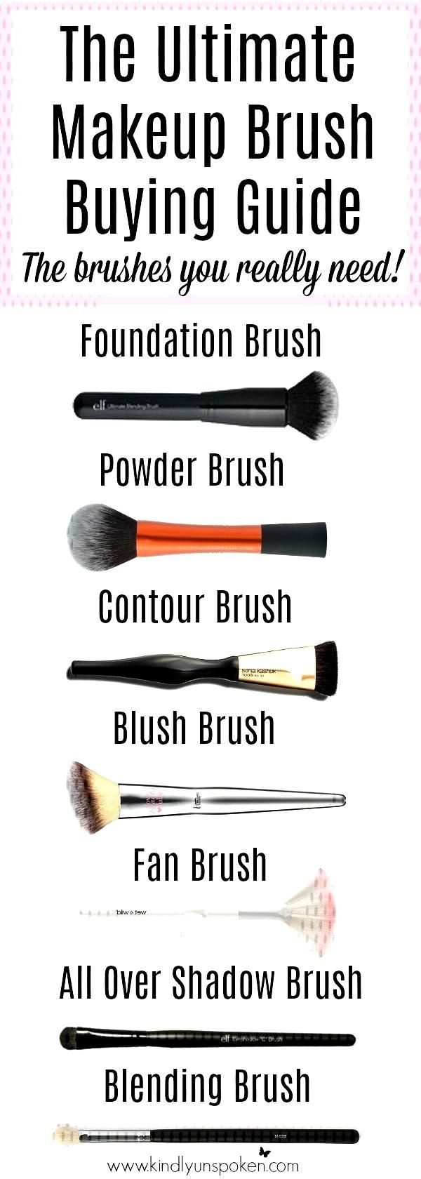 affordable beginners ultimate curious brushes makeup