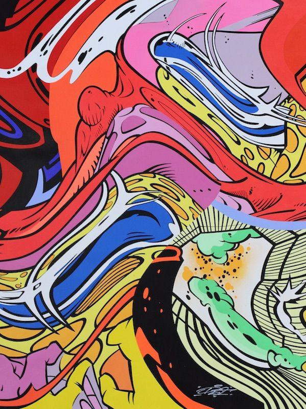 PRO176 - AUTOMATED LIFE MACHINE 1 - GALERIE ZIMMERLING & JUNGFLEISCH http://www.widewalls.ch/artwork/pro176/automated-life-machine-1/ #Painting