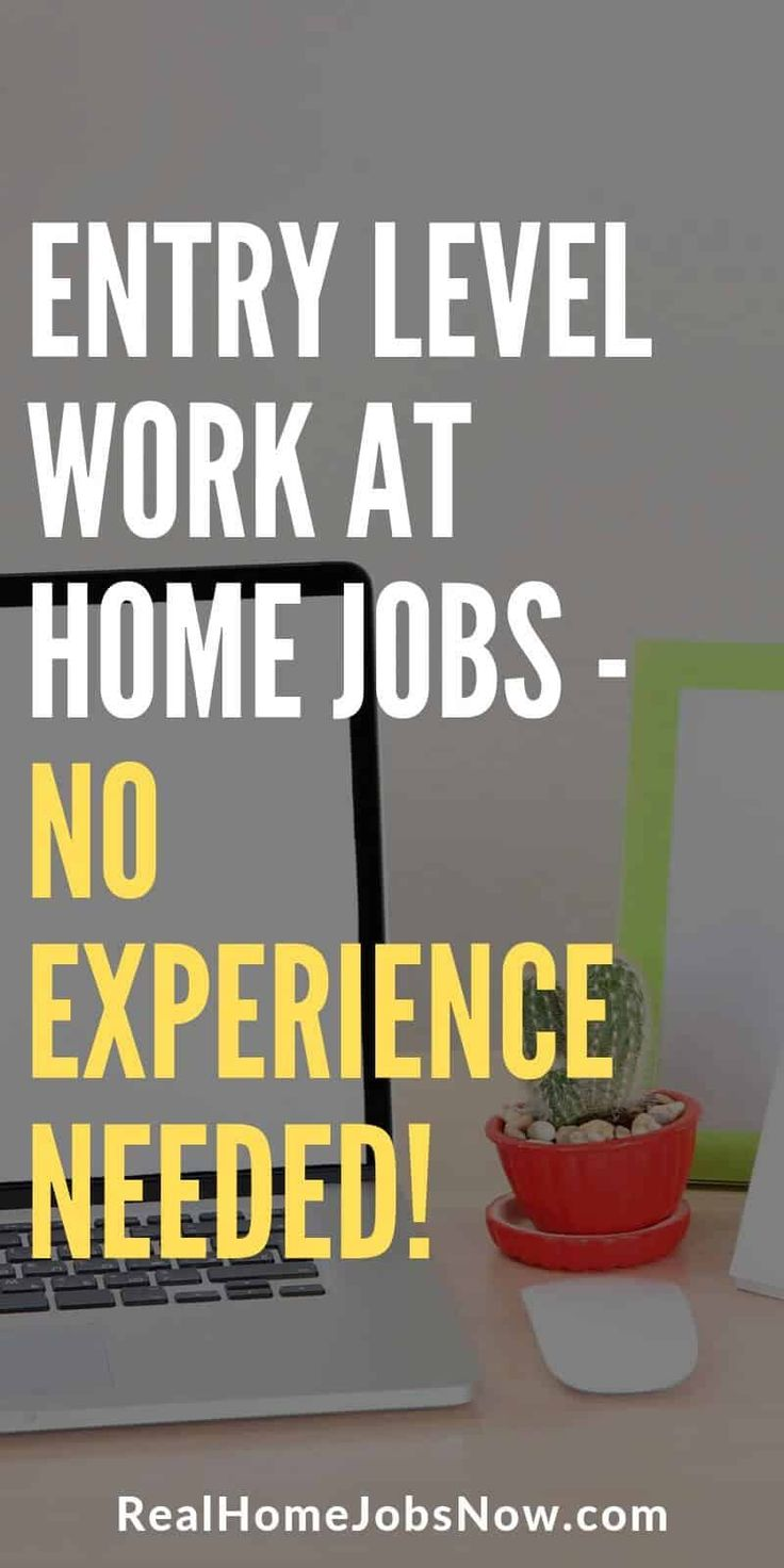 55 No Experience Work From Home Jobs For Beginners Work