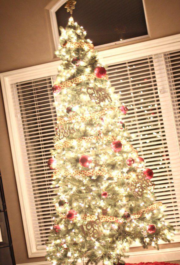 bokeh christmas tree lights tree picture