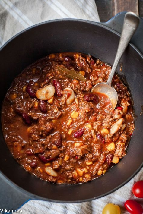 This Texas-style chilli is so warm and comforting and so GOOD for you!