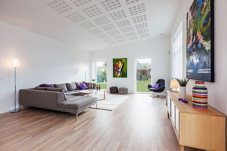 Stue fra et af vores udstillingshuse #nybyggeri #bolig #nythjem #nybyg #hjem #nythus #nybyggerne