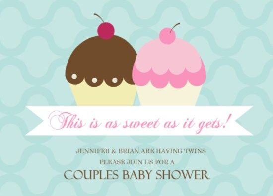 best twin baby shower party images on   twin baby, Baby shower invitation
