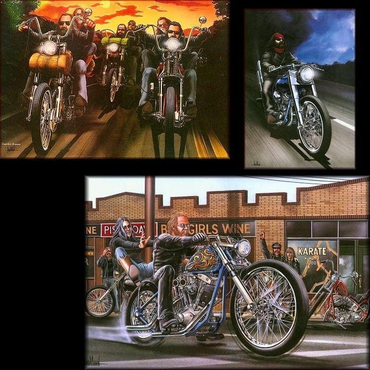 586 Best David Mann Biker Art Made By A Biker Images On