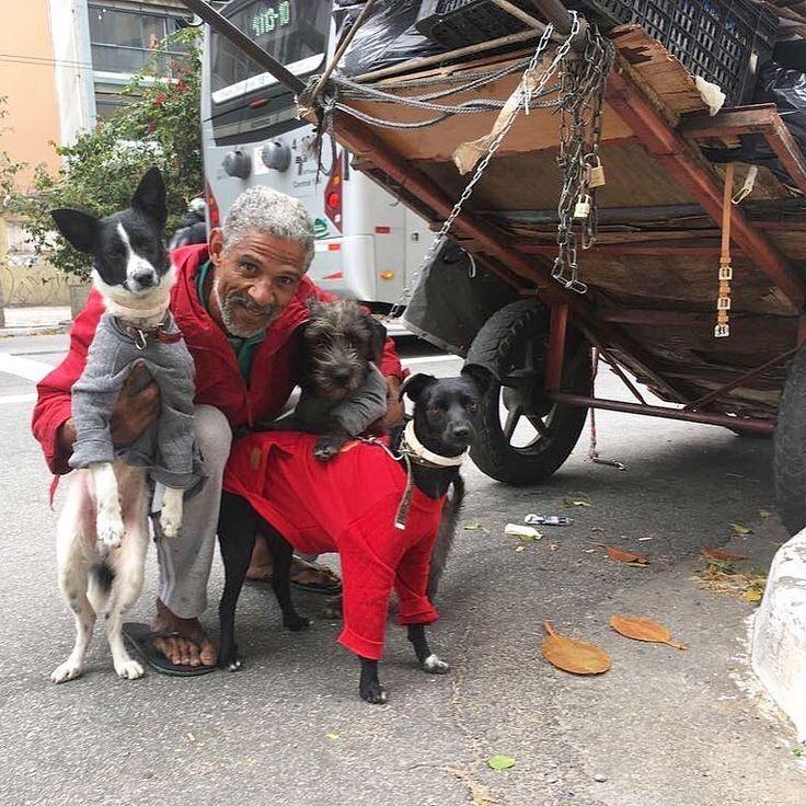 """Foto de @moradoresderuaeseuscaes """"Como é a vida dos cães que vivem nas ruas? Em um dia comum do ano de 2012 resolvi sair por São Paulo com a câmera, em busca dessa resposta. Escolhi lançar luz sobre esses seres quase invisíveis e aproximá-los dos olhares apressados da cidade. A beleza das imagens traz à memória cenas comuns, mas que não são vistas com atenção no dia a dia."""" As palavras são do fotógrafo Edu Leporo, criador do projeto Moradores de Rua e Seus Cães (@moradoresderuaeseuscaes)…"""