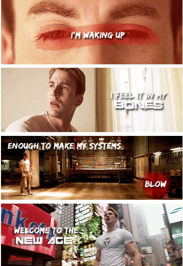Steve Rogers~ Radioactive by Imagine Dragons