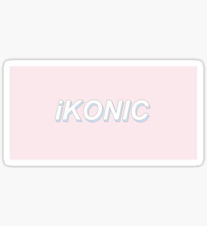 Pink iKON Sticker