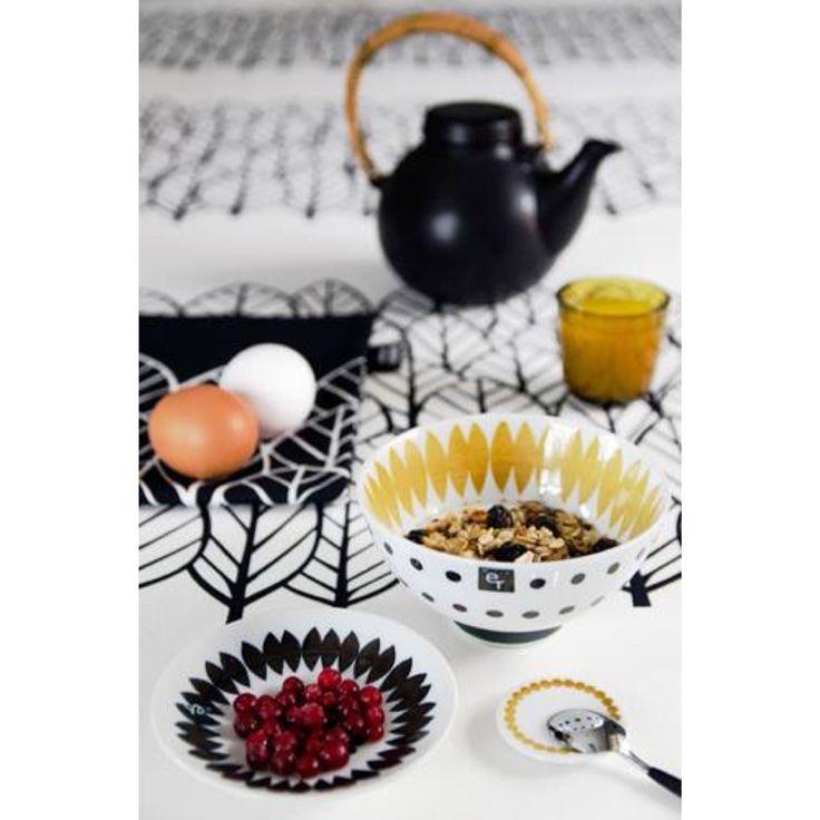 Rebers design SUNNY for Japanese Hasami Yaki porcelain / Scandinavian Pattern Collection