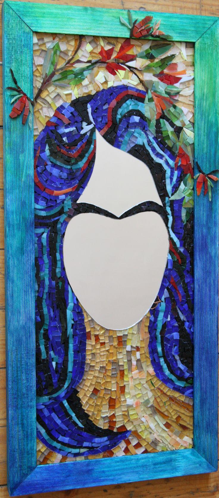 Mozaic de sticla/oglinda (pe placaj de lemn)