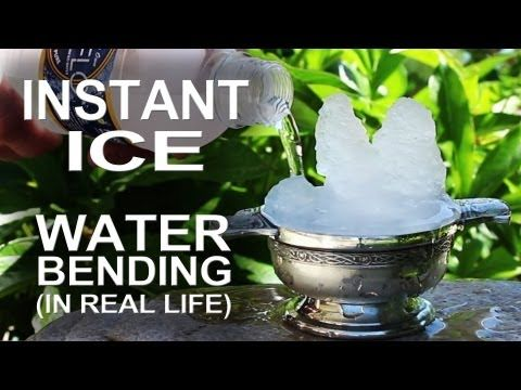 Instant Ice - Waterbending In Real Life! - YouTube