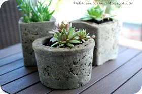 *Today I am sharing my guest postthat was posted last week over at Remodelaholic . . I made these hypertufa pots after seeing this articl...