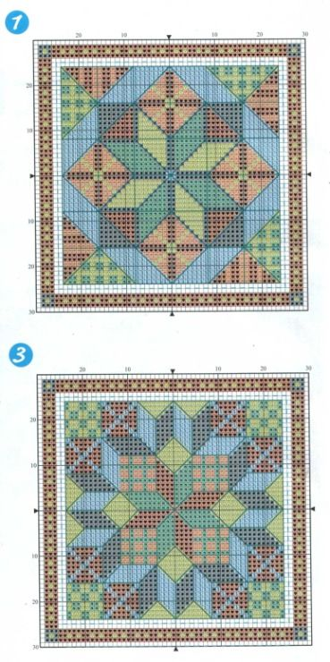 Gallery.ru / Фото #97 - 164 Quilts Cross Stitch - joobee