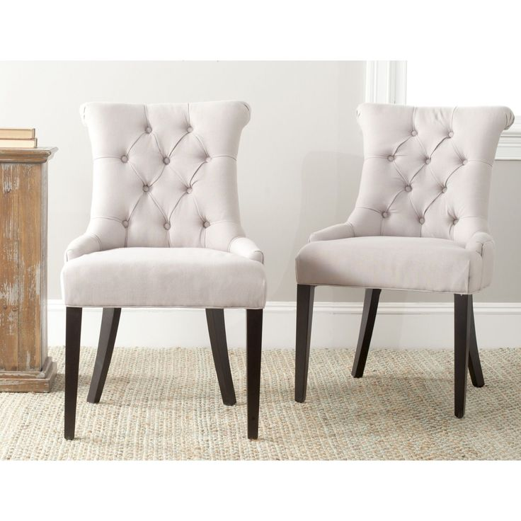 These Chic Bowie Side Chairs From Safavieh Feature Clean Lines And Gracefully Sloping Arms Accented In