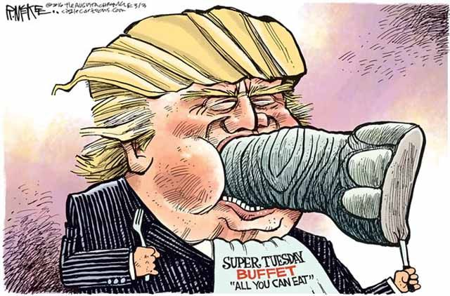 A weekly roundup of funny and provocative cartoons by the nation's top cartoonists.: Trump and Super Tuesday