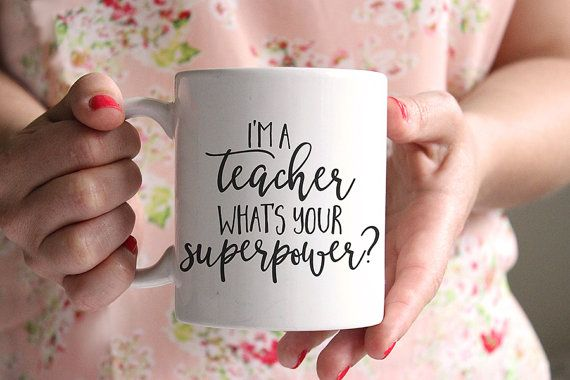 I'm a teacher what's your superpower, Coffee mug, Tea mug, Ceramic mug, Coffee cup, Mugs, Ceramic Mug, Calligraphy Font, Funny mugs, MC72
