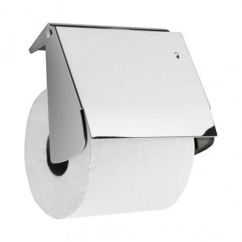 Solid Toapappershållare Med Lock - Borrfri Montering - Krom - Beslag Design #Allabeslag #BeslagDesign #borrfri #badrum