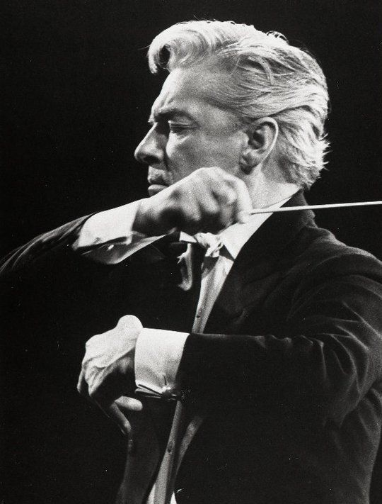 Herbert von Karajan. My FAVORITE conductor. Memorized all of his pieces and always conducted with eyes closed