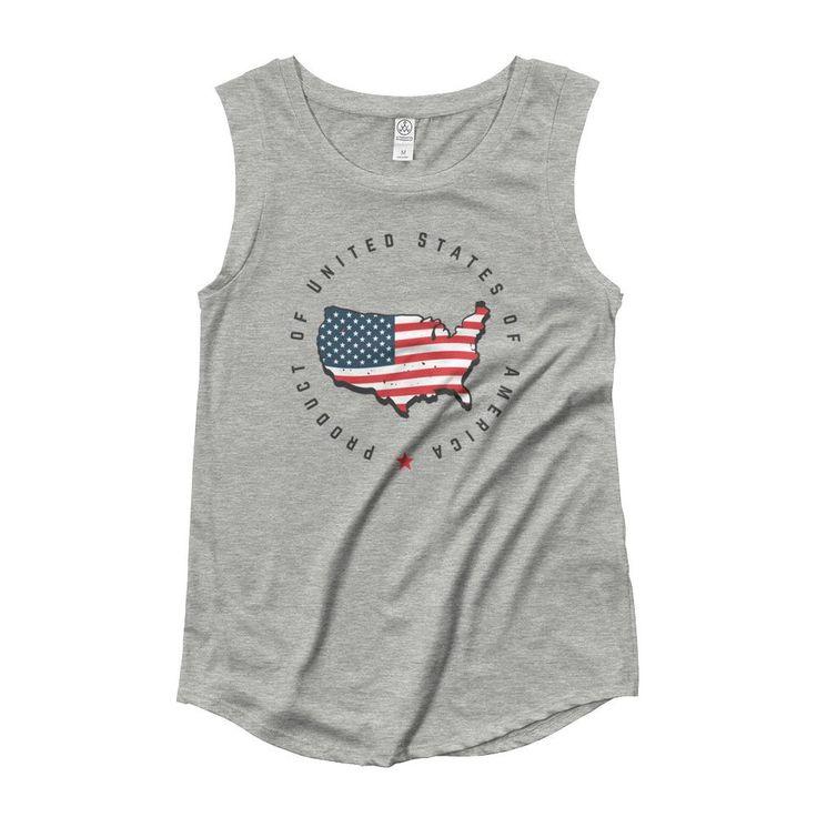 Retro United States Seal Ladies' Cap Sleeve T-Shirt – Ziffu