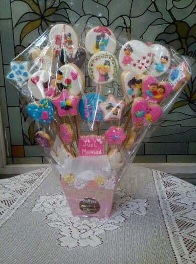 Wedding cookies bouquet