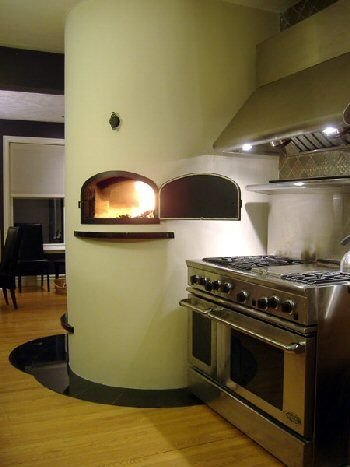 Bake Oven - Fireplace combination by Alex Chernov Only thing I would change. Is brick around the column with the fire place oven. To give it a Tuscan feel.