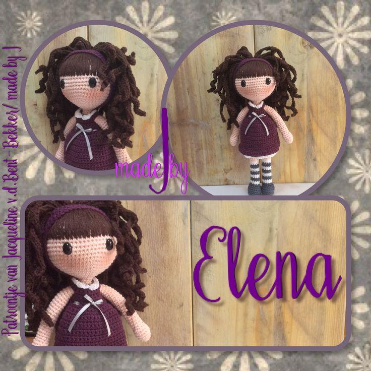 Elena pop ook haken. Een haak kooppatroon van made by J. #haakpatroon #pophaken #haken #amigurumi